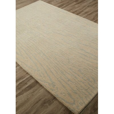 Gramercy Woodgrain Hand-Tufted Gray/Cream Area Rug Rug Size: Rectangle 8 x 10