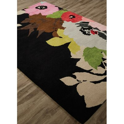 Gramercy Mega Floral Hand-Tufted Pink/Red Area Rug Rug Size: Rectangle 9 x 12