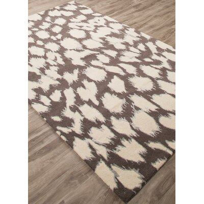 Gramercy Leopard Hand-Tufted Brown/Cream Area Rug Rug Size: Rectangle 4 x 6