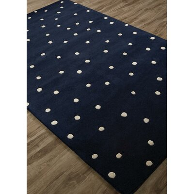 Gramercy Scatter Dot Hand-Tufted Navy/White Area Rug Rug Size: Rectangle 9 x 12