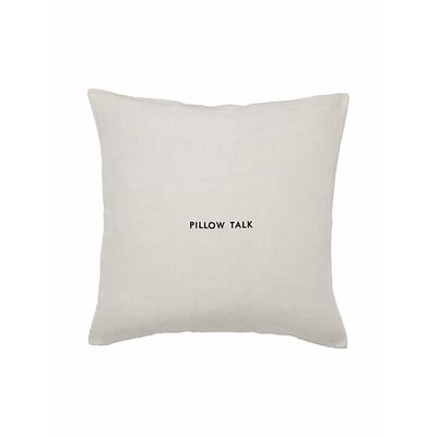 Words of Wisdom Pillow Talk Throw Pillow