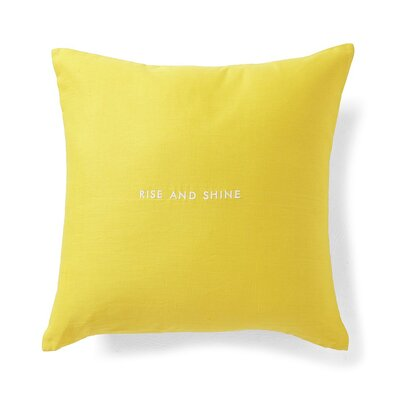 Words of Wisdom 'Rise and Shine' Throw Pillow