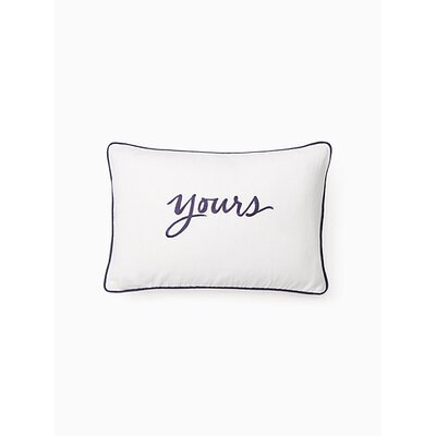 Eyelet 'Yours' Lumbar Pillow