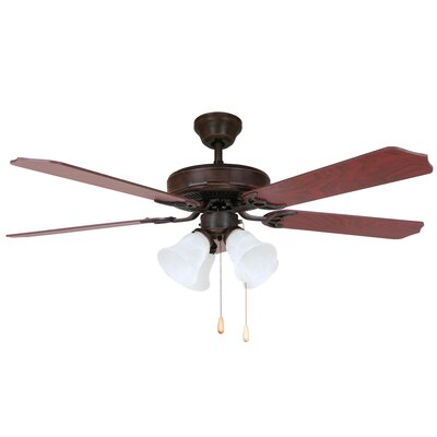 52 Harli 5-Blade Ceiling Fan Finish: Oil Rubbed Bronze