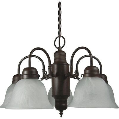 Millstone 5-Light Shaded Chandelier Finish: Dark Brown