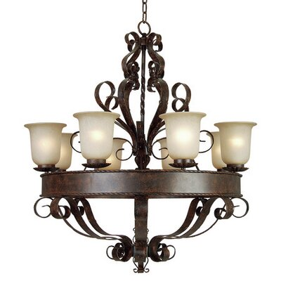 Gianni 8-Light Shaded Chandelier