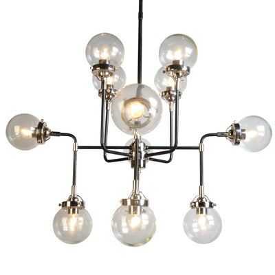 Militello 12-Light Sputnik Chandelier Glass Color: Clear