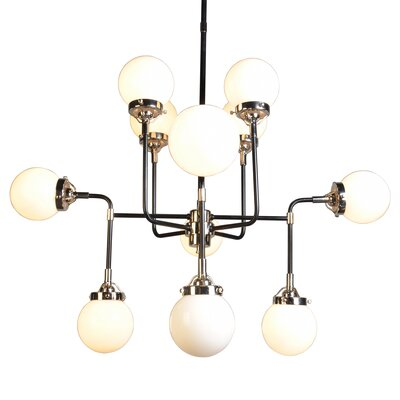 12-Light Sputnik Chandelier Glass Color: White