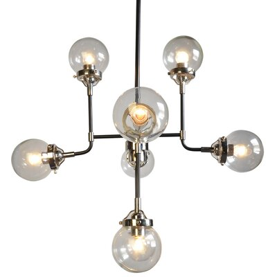 8 Light Candle Chandelier Glass Color: Clear
