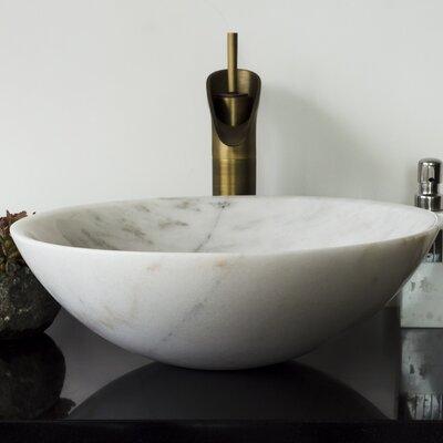 Brielli Stone Circular Vessel Bathroom Sink