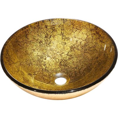 Bourgeois Glass Circular Vessel Bathroom Sink