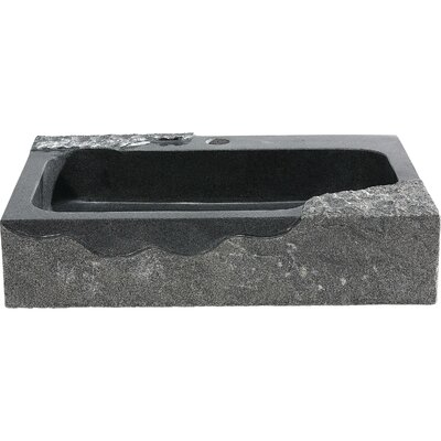 Jaki Stone Rectangular Vessel Bathroom Sink
