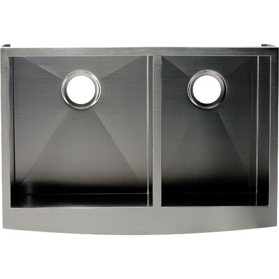 Hardy 10 x 33 Double Bowl Kitchen Sink