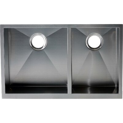 Hardy 22 x 33 Double Bowl Kitchen Sink