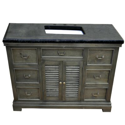 Miles 48 Single Bathroom Vanity Set Base Finish: Gray