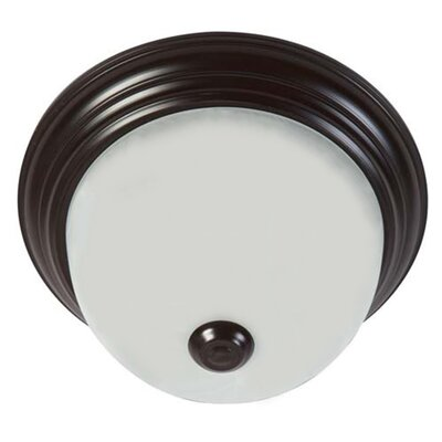 3-Light Flush Mounted Finish: Oil Rubbed Bronze