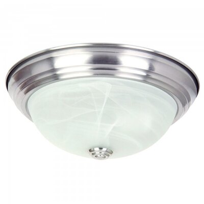 3-Light Flush Mount Size: Small
