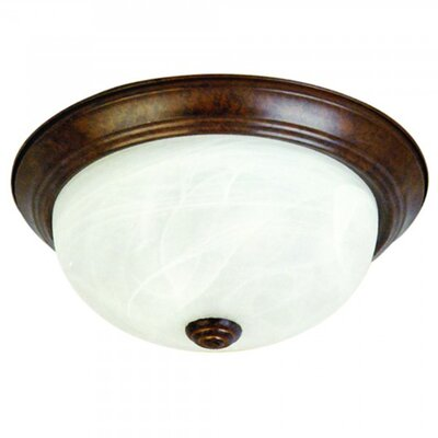 3-Light Flush Mount Size: Medium