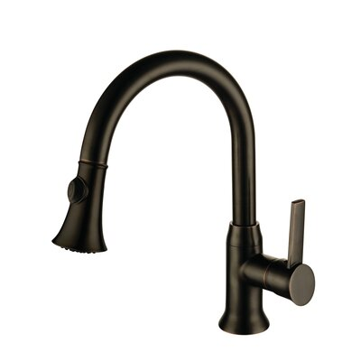 Lazaro Pull Out Single Handle Kitchen Faucet Finish: Oil Rubbed Bronze