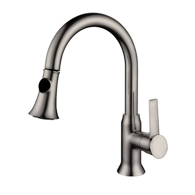 Lazaro Single Handle Deck Mounted Kitchen Faucet Finish: Brushed Nickel