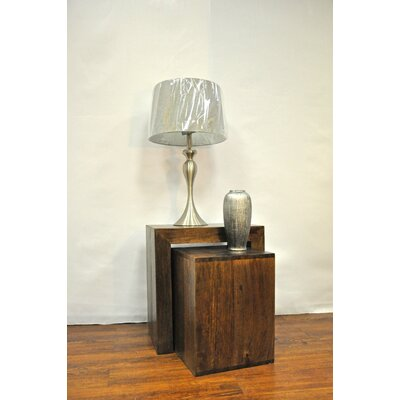 2 Piece Nesting Tables Finish: Dark Brown