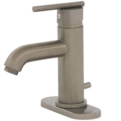 Optimist Lavatory Faucet Single Handle with Drain Assembly Finish: Brushed Nickel Finish