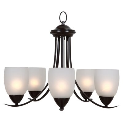 Edda 5-Light Shaded Chandelier Finish: Oil Rubbed Bronze