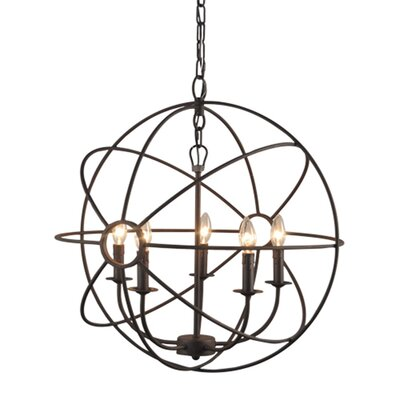 Millikan 5-Light Globe Pendant Finish: Rustic