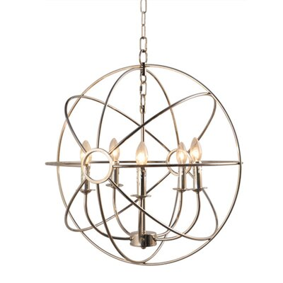 Infinity 5-Light Globe Pendant Finish: Satin Nickel