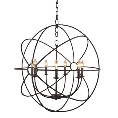 Millikan 7-Light Globe Pendant Finish: Rustic