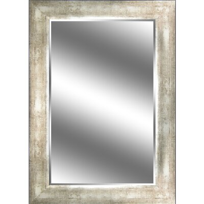 "REFLECTION "" 1"" Bevel Mirror 3.75"" Champagne colour frame EC3143CH"