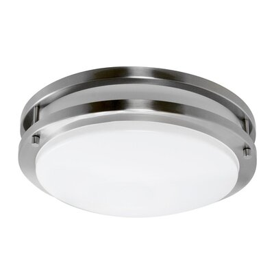 Euro 1-Light Flush Mount Size: Small, Finish: Satin Nickel