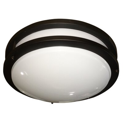 Euro 1-Light Flush Mount Size: Medium, Finish: Oil Rubbed Bronze