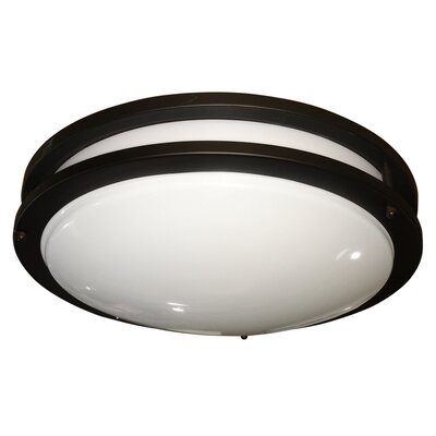 Euro 1-Light Flush Mount Size: Small, Finish: Oil Rubbed Bronze