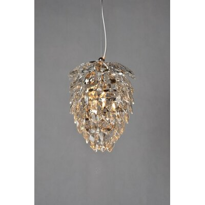 1-Light Crystal Chandelier