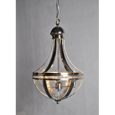 3-Light Candle-Style Chandelier Finish: Nickel
