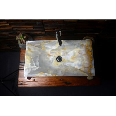 Tami Stone Rectangular Vessel Bathroom Sink