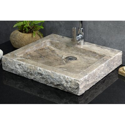 Anthony Travertine Rectangular Vessel Bathroom Sink