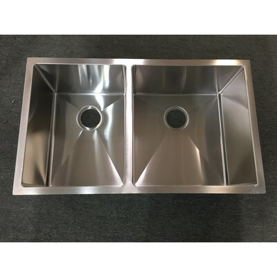 32 x 19 Double Basin Undermount Kitchen Sink
