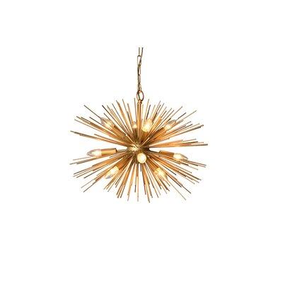12-Light Sputnik Chandelier Size: 15.8 H x 24 W x 24 D