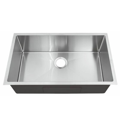 32.4 x 19 Single Bowl Undermount Kitchen Sink