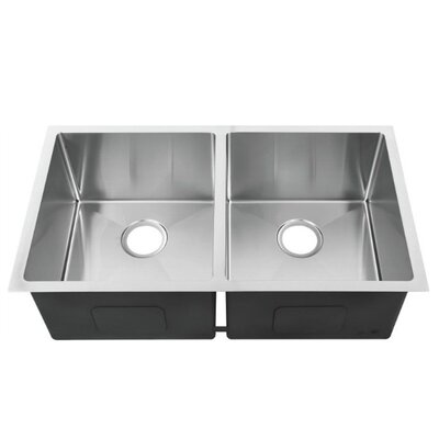 32.4 x 19 Double Bowl Undermount Kitchen Sink