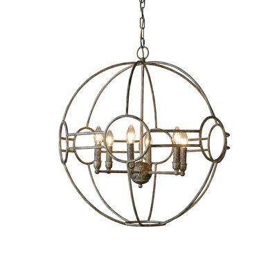 Simo 6-Light Candle-Style Chandelier