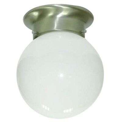 Brockhausen 1-Light Flush Mount Finish: Satin Nickel
