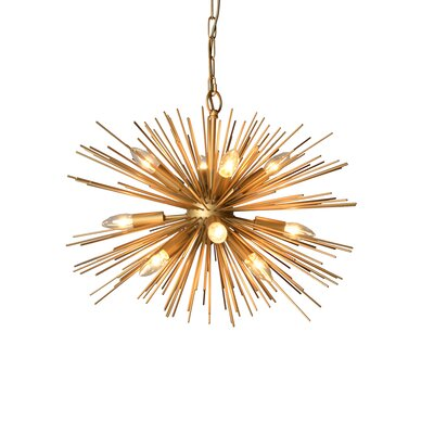 12-Light Sputnik Chandelier Size: 21 H x 29.5 W x 29.5 D
