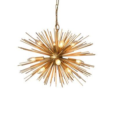 12-Light Sputnik Chandelier Size: 21 H x 29.5 W x 29.5 D