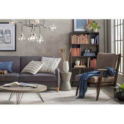 Glass Hand-Woven Gray Area Rug Rug Size: Rectangle 4 x 6