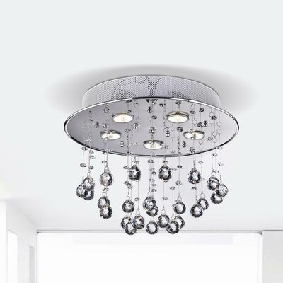 Mcintire Floating Bubble 5-Light Flush Mount