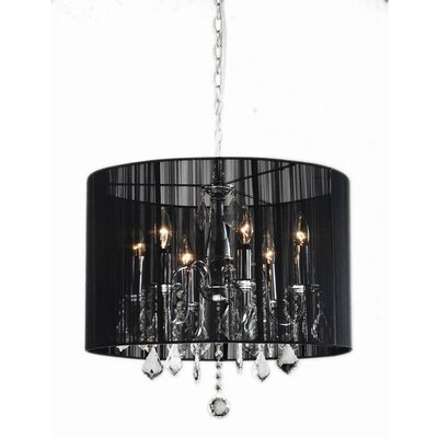 6-Light Drum Chandelier Color: Black