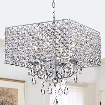 Holford 4-Light Crystal Chandelier